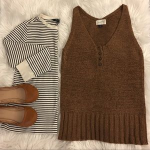 Brown   sweater vest